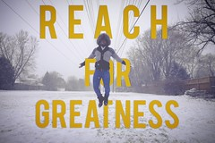 Reach for Greatness (blackwhite.media) Tags: winter toronto canada motion love typography photography jumping movement action inspirational greatness