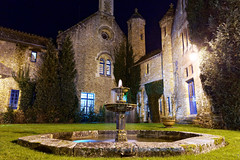 Old fontain (marko.erman) Tags: old blue light france colors beautiful architecture night buildings long exposure sony romance monastery hour romantic mansion charming fontain extrieur btiment abbaye vaux cernay vauxdecernay