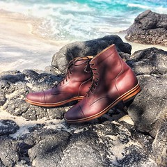 .Greetings from the ocean.  Chesnut Brogue Captoe Boots Ready for MTO Program Click our Instagram's link below for more info & update  Thanks!   www.instagram.com/perdeumftwr  #leatherboots  #menboots (perdeumftwr) Tags: bali boots ubud canggu leatherboots leathershoes menboots seninyak