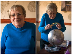 April 30th 2016 - Project 366 (Richard Amor Allan) Tags: birthday portrait globe magnifyingglass planet project366