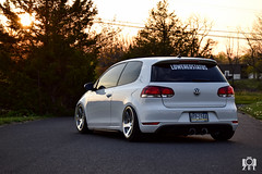 DSC_0984 (ZRL_photography) Tags: auto white cars car volkswagen photography photo nikon euro german gti dslr lowered stance status photooftheday mkiv bagged airride stanced 3sdm