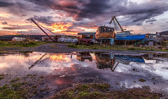 sunset at the auld boats (blairmchattiephotography) Tags: sunset cold water reflections scotland boat nikon flickr harbour yacht fife outdoor tokina d7000 burntislans