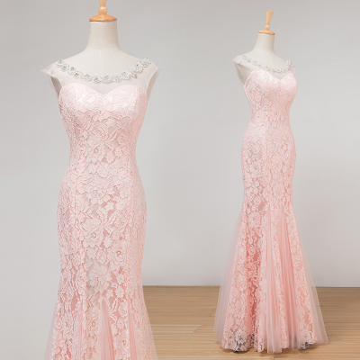 Tail meat pink bridal wedding gowns 2016 new