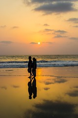 Reflection (sushilpatro) Tags: sunset sea summer india beach reflections sand goa stories