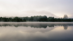 Time Won't Wait (John Westrock) Tags: longexposure morning trees reflection nature fog foggy calm pacificnorthwest washingtonstate canonef2470mmf28lusm mtsi canoneos5dmarkiii