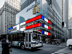 Barclays, New York City, USA ([ PsycBob ]) Tags: street new york city bw usa white black france color frankreich strokes bank scene solidarity colored barclays solidaritt strasenszene