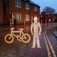 A bit of midweek silliness (Caroline Oades) Tags: road street england silly westsussex doubleexposure processing wait chichester pelicancrossing enlight terracedhouses waitforthegreenman