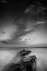 Low Hauxley Mono (Alex365pix) Tags: sea clouds mono coast nikon rocks seascapes northumberland le northeastcoast cokinz lowhauxley nikond610