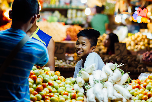 Young Boy Vegetable Vendor, Cebu Philippines