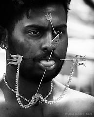 Singapore (ale neri) Tags: street portrait people blackandwhite bw singapore indian streetphotography thaipusam kavadi 2016 aleneri alessandroneri