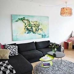 Art home in the Danish newspaper JyllandsPosten (Rikke Darling) Tags: modern painting abstractart colorfull kunst fineart moderne abstrakt maleri colourfull malerier galleri abstrakte salg bioart kb kunstgalleri farverigt