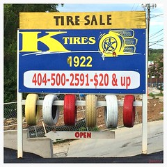 Cheshire Bridge Road / Atlanta (swampzoid) Tags: atlanta red colorful very tires 1922 stark brightred cheshirebridgeroad