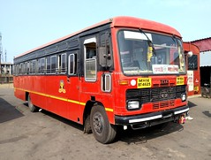 Travelled by this MSRTC Parivartan From Goa( Panji) To Kolhapur (gouravshinde94) Tags: bus tata panji msrtc parivartan mahbleshwar