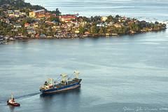 Jayapura Bay (Jokoleo) Tags: life city port indonesia bay citylife culture papua highview jayapura