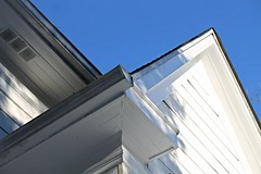 looking up - white on blue (karma (Karen)) Tags: house home maryland baltimore cmwdblue linesgeometry
