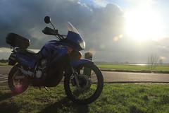IMG_9334 (Mr. Blue-Sky25) Tags: road sunset sun holland nature water netherlands grass clouds zonsondergang utrecht toren nederland natuur wolken motorbike motorcycle gras motor dijk zon dike weg lek ijsselstein gerbrandy motorfiets