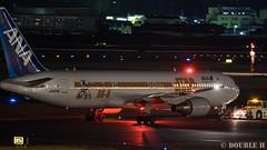 Itami Airport at night 2016.1.31 (11) JA604A / ANA's STAR WARS JET (B767-300) (double-h) Tags: airplane ana starwars observationdeck itamiairport  itm b767  osakaairport b767300    rjoo  specialpainting ja604a   ef300mmf28lisiiusm  lasora eos7dmarkii