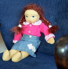Hand made doll Anna Frozen stuffed (dennoir) Tags: anna frozen stuffed doll hand made mohair haare wolle prinzessin schafwolle waldorfpuppe stoffpuppe schafswolle eisknigin mohairwolle wollhaare