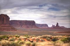 Monument Valley, Navajo Tribal Park, Arizona 4 (Largeguy1) Tags: blue arizona cactus sky mountains clouds canon landscape mark iii 5d approved monumentvalley navajotribalpark
