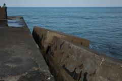 the Pacific Ocean (michio1975) Tags: ocean blue sea water fishing pacific horizon chiba breakwater angling