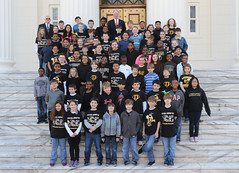 02-11-2016 DeArmanville Elementary with Gov. Bentley and Rep. Brown