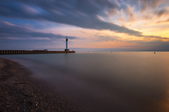 Grand Bend Sunset (B.E.K.) Tags: longexposure sunset sky lighthouse lake clouds landscape outdoor shore huron grandbend nikond600 nikon247028