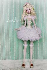 Mint Fairytale (AyuAna) Tags: set ball grey design clothing doll dress purple skin handmade ooak clothes bjd dollfie jointed ellana lillycat cerisedoll ayuana