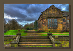 Smithills Hall, Bolton (Kevin From Manchester) Tags: bridge england architecture canon river northwest medieval historic lancashire bolton historical 1855mm hdr tudormanor kevinwalker smithillshall canon1100d