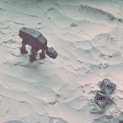 16 (jere7my) Tags: snow dice monochrome miniatures starwars waiting 45 actionfigures videogame xwing 16 premiere countdown atat artproject hoth cornstarch rogueleader percentiledice theforceawakens tfacountdown roguesquadronii