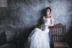 Feb 5th Pre wedding (WillyYang) Tags: wedding portrait wall canon 50mm grey bride 6d 50mmf12 50l