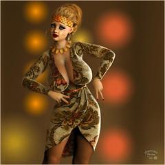 Big hoop earrings (Damaz Real Fantasy) Tags: sexy beauty sex vintage 3d big breast tits bra retro earrings hoops tetas pinup busty daz wonderbra pechos exhuberante