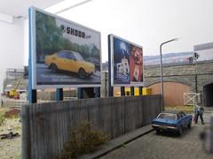 Skoada Hoarding (37114) Tags: yard advertising 1970 skoda hoardings peafore