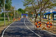Bike path (4 km) around Nong Bon Lake in Bangkok, Thailand (UweBKK ( 77 on )) Tags: park city bon trees urban lake sports bike bicycle thailand asia path bangkok sony recreation southeast alpha dslr 77 slt nong