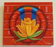 Mixtec Flower Painting Mexico (Teyacapan) Tags: flowers art mexico paintings mexican textiles oaxacan mixtec