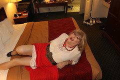new119295-IMG_0219t (Misscherieamor) Tags: tv transformation feminine cd femme motel tgirl transgender mature sissy tranny transvestite crossdress ts gurl tg travestis travesti travestido travestie m2f onbed xdresser tgurl traviesa travestito slipshowing travestit sheerblouse redpleatskirt