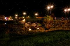 In the middle of the night. Mariestad - Sweden (nogger45) Tags: longexposure bridge night sweden sverige mariestad