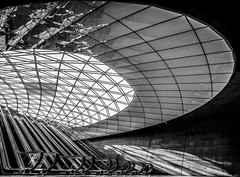Something overshadowing me (Maerten Prins) Tags: longexposure shadow blackandwhite monochrome lines wall stairs stair metro sweden empty curves escalator line trainstation sverige escalators curve malm malmo metrostation zweden triangeln roltrappen