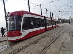 TTC 4415 Flexity Outlook LRV By Bombardier Built 2015 LRV Eastbound On Queens Quay W ROW Route 509 (drum118) Tags: tram streetcar trolleycar lightrailvehicle torontophoto bombardierflexityoutlook route509 transitttc ontariophoto ttcstreetcarfleet onqueensquaywrow ttcflexityoutlookfleet built2015 ttc4415flexityoutlooklrv lrveastbound