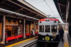 Kyoto_Randen_01 (Sakak_Flickr) Tags: station train kyoto arashiyama randen keifukudentetsu