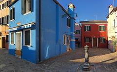 Going to Burano is one big feast (VillaRhapsody) Tags: blue venice winter italy house colors square colorful venezia venedig burano citytrip challengeyouwinner fondamentcavanell