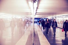 IMGP2393 (maurizio siani) Tags: lighting city italy station underground italia arte gente metro pentax tunnel persone napoli naples inverno stazione metropolitana sotto luce interno interni specchio citt febbraio illuminazione 2016 camminare corridoio sotterraneo fermata vanvitelli andare vomero k30 rifllesso specchiato specchiare