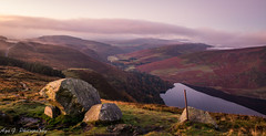 Good morning from Lough Tay (Aga G. Photography) Tags: morning autumn ireland sky sun mist lake mountains colour nature beauty stone clouds sunrise landscape outdoors lough hill tay wicklow canon5dmark3