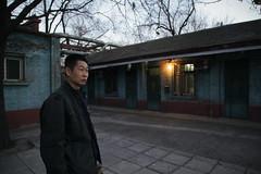 10122012-IMG_5590 Caretaker at abandoned Shougang steel plant, Beijing (Jordan Pouille JOURNALIST) Tags: china street portrait people man outside working chinese beijing class pkin