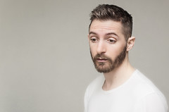(Damien Cox) Tags: uk portrait selfportrait man male me face self ego myself beard eyes nikon masculine tshirt moi autorretrato scruff stubble i damiencox damiencoxcouk