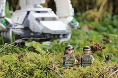 Guard Duty (Jon Christall) Tags: canada macro toy starwars dof bc lego britishcolumbia depthoffield vancouverisland minifig imperialshuttle zeballos rebelcommando tyderion