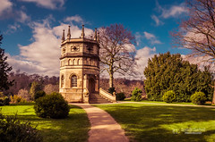 Octagon Tower (tbnate) Tags: park sky sun tower nature architecture clouds nikon outdoor yorkshire royal hdr octagon northyorkshire ripon studley studleypark octagontower d5100 nikond5100 tbnate