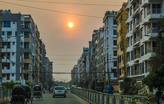 Mirpur DOHS (ASaber91) Tags: sunset dhaka rickshaw bangladesh mirpur dohs