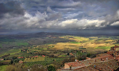 Roofs of Montepulciano (Fil.ippo) Tags: landscape country hill tetti roofs campagna tuscany montepulciano toscana valdorcia hdr filippo countryscape d7000 filippobianchi