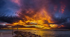 PATTERSON LAKES SUNSET (Laws Photography | www.lawsphotography.com) Tags: ocean sunset sea sky panorama seascape beach beautiful clouds canon landscape pano melbourne wideangle panoramic sunsetting pattersonriver amazingskies beacheslandscapes sunsetpanoramic lawsphotography wwwlawsphotographycom vaughanlaws