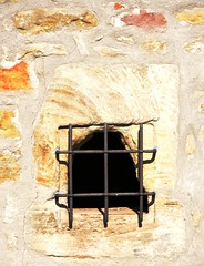 Window of a witch tower (:Linda:) Tags: window germany town thuringia stonewall themar protectivegrill